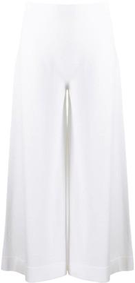 D-Exterior Stretch-Knit Wide Leg Culottes