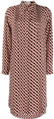 Dvf Diane Von Furstenberg Shift Chain Print Silk Dress