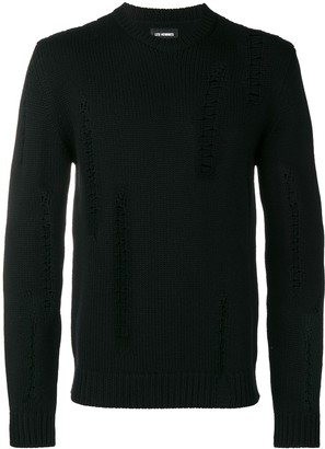 Les Hommes Distressed Detail Sweater