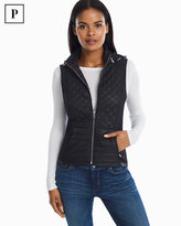 White House Black Market Petite Quilted Black Vest
