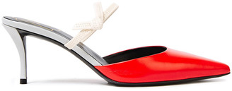 Roger Vivier Sin 65 Knotted Leather Mules