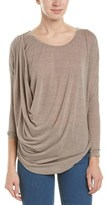 Bobi Draped Dolman Top.
