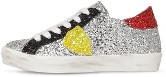 Philippe Model Paris Glittered Leather Sneakers