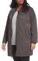 Caslon Plus Size Women's Calson Long Bomber Jacket