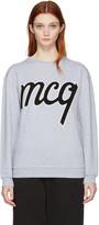McQ by Alexander McQueen Grey Logo Classic Pullover