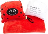 Trendy Kid Travel Buddies Snoozy Blanket and Pillow Set - Lola LadyBug