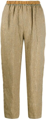 Forte Forte metallic threading cropped trousers