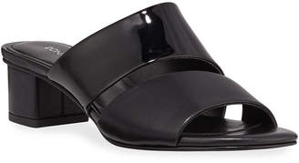 Donald J Pliner Margret Two-Band Leather Slide Sandals