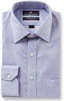 Hart Schaffner Marx Non-Iron Fitted Classic-Fit Spread Collar Herringbone Dress Shirt