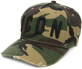 DSQUARED2 Logo Camouflage Print Cap