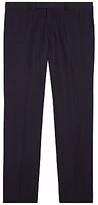Jaeger Silk Linen Regular Fit Suit Trousers, Navy