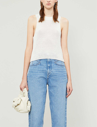 Reformation Sleeveless loose-fit knitted top