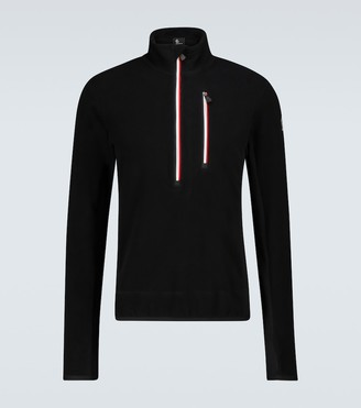 MONCLER GRENOBLE High-neck fleece sweater