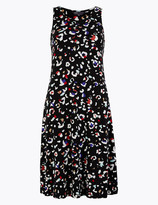 Marks and Spencer Jersey Animal Print Swing Dress