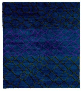 Christopher Fareed Design Studios Meningie D Hand Knotted Tibetan Rug, 6' Square
