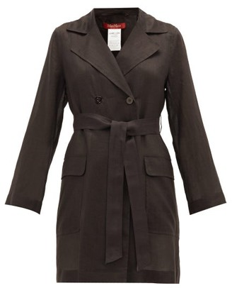 Max Mara Zinco Trench Coat - Womens - Black
