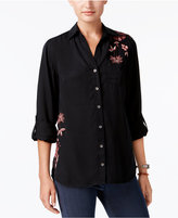 Style&Co. Style & Co Embroidered Utility Shirt, Created for Macy's