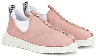Miu Miu Crystal-embellished sneakers