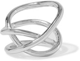 Jennifer Fisher Small Abstract Line Silver-plated Ring - 7