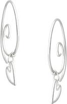 Journee Collection Sterling Silver Handmade Heart-Charm Earrings