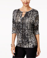 Thalia Sodi Printed Hardware-Detail Top, Created for Macy's