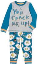 Tu clothing Grey Slogan Pyjamas