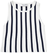 Milly Minis Sleeveless Striped Knit Shell, Blue/White, Size 8-14