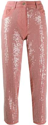 Blumarine sequin straight jeans