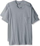 Gildan Men's 2-Pack Workwear Pocket T-Shirt, Sport Grey