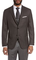 Hickey Freeman Men's B-Series Classic Fit Plaid Wool Sport Coat
