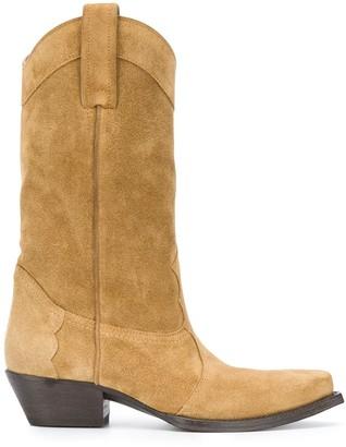 Saint Laurent Calf-Length 50mm Cowboy Boots