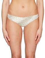 Pilyq Women's Reversible Seamless Zig Zag Full Bikini Bottom