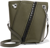 Proenza Schouler Hex Mini Paneled Leather Shoulder Bag - Army green