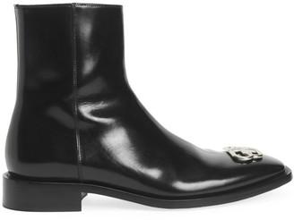 Balenciaga Rim BB Zip Leather Boots