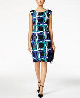 Nine West Printed Jersey Sheath Dress