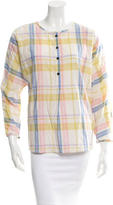 Creatures of Comfort Plaid Print Popover Top w/ Tags