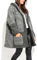 Everest Gray Wool-Blend Swing Coat - Plus Too