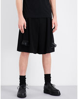 Comme Des Garcons Homme Plus Train-detailed Wool Shorts