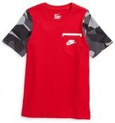 Nike Boy's Contrast Sleeve Cotton T-Shirt