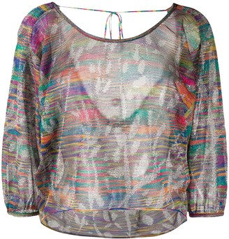 Missoni Stripe Patterned Sheer Blouse