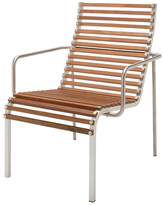 Janus et Cie Ex Tempore High Back Stainless Steel Lounge Armchair