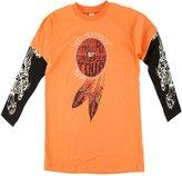 Ed Hardy Kids Long Sleeve T-Shirt -Orange