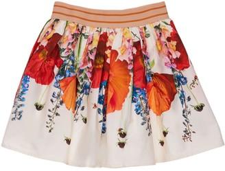 Molo Poppy Print Organic Cotton Skirt