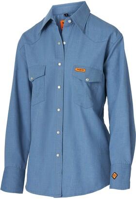 Wrangler Women's Flame Resistant Western Long Sleeve Snap Workshirt