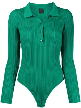 Pinko Knitted Ribbed Polo Body