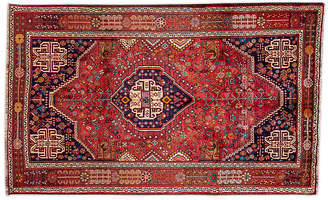 "One Kings Lane 5'6""x8'8"" Persian Shiraz Rug - Blush/Navy"