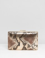 Asos Metallic Snake Box Clutch Bag