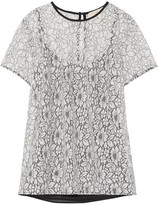 MICHAEL Michael Kors Corded Lace Top - White