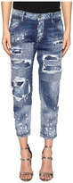DSQUARED2 Cool Girl Cropped Jeans in Blue Women's Jeans