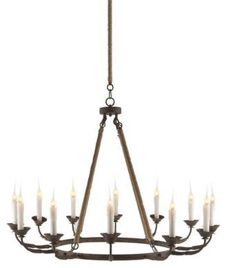 Aidan Gray 12-Light Candle Style Wagon Wheel Chandelier